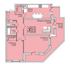 3-комнатная, улица Таманская 151. ЧМР, агентство, 95 кв.м.