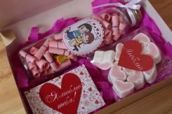 Причины любви+love is+зефирки-сердечки+открытка,14 и 23 февраля,8марта