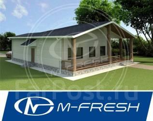 M-fresh Little house (Планировка дома в проекте). 100-200 кв. м., 1 этаж, 3 комнаты, бетон