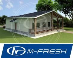 M-fresh Little house (Накрытая терраса, встроенный гараж). 100-200 кв. м., 1 этаж, 3 комнаты, бетон