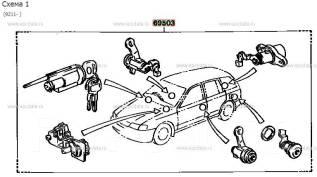 Замок. Toyota Corona, AT210, AT211, CT210, CT211, CT215, CT216, ST210, ST215 Toyota Caldina, AT191, AT191G, AT211, AT211G, CT190, CT190G, CT216, CT216...