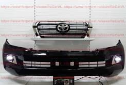 Решетка бамперная. Toyota Land Cruiser, GRJ200, GRJ76K, GRJ79K, J200, URJ200, URJ202, URJ202W, UZJ200, UZJ200W, VDJ200 Двигатели: 1GRFE, 1URFE, 1VDFTV...