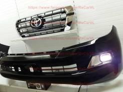 Решетка бамперная. Toyota Land Cruiser, J200, URJ202, URJ202W, VDJ200 Двигатели: 1URFE, 1VDFTV, 3URFE