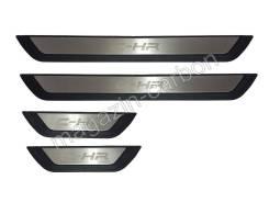 Накладка на порог. Toyota C-HR, NGX10, NGX50, ZYX10 Двигатели: 2ZRFXE, 3ZRFAE, 8NRFTS