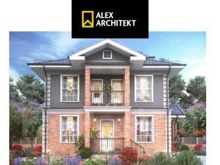 Проект R 114 Классический дом. 100-200 кв. м., 2 этажа, 5 комнат, бетон