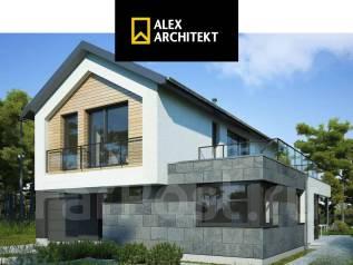 Проект R 117 z Интригующий дом. 100-200 кв. м., 2 этажа, 4 комнаты, бетон