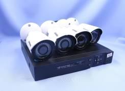 AHD комплект видеонаблюдения с регистратором и 4 камерами