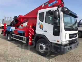 Daewoo Novus. Вышка Horyong SKY450SF на шасси 7 тонн 2018год., 5 890 куб. см., 45 м.
