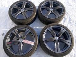 "Продам комплект красивых колес Weds Leonis на летней резине 225/40/18. 7.5x18"" 5x114.30 ET38 ЦО 72,0мм."