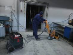 Шлифование бетонного пола. Затирка свежего бетона вертолетом.