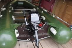 Продам резиновую лодку 3,6 метров с новым мотором Меркурий 15 110тыс