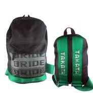 JDM Рюкзак Bride зеленый, ремни Takata