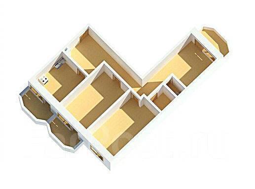 3-комнатная, улица Нейбута 81а стр. 2. 64, 71 микрорайоны, застройщик, 81кв.м.