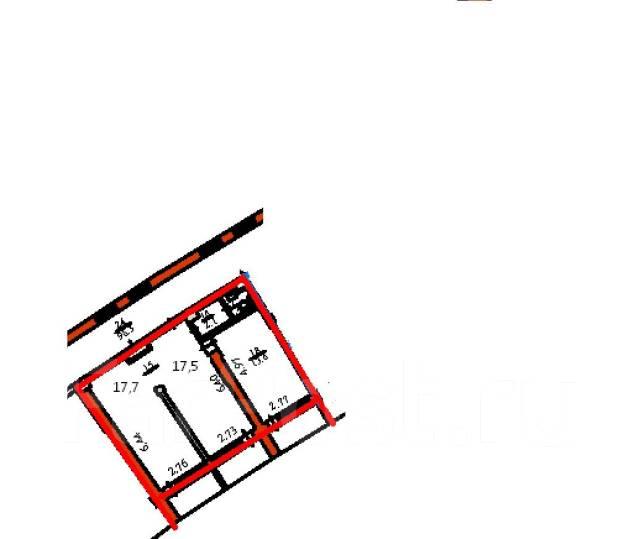 """Отличный офис 52 кв. м. в г-це """"Амурский залив"""". 52 кв.м., улица Набережная 9, р-н Центр. План помещения"""