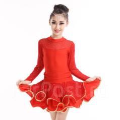 Платья для бальных танцев. Рост: 116-122, 122-128, 128-134, 134-140, 140-146, 146-152, 152-158, 158-164 см. Под заказ