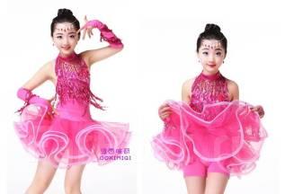 Платья для бальных танцев. Рост: 104-110, 110-116, 116-122, 122-128, 128-134, 134-140, 140-146, 146-152, 152-158 см. Под заказ