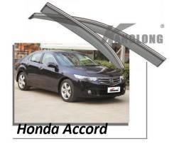 Ветровики с хром молдингом под оригинал Honda Accord 2008-2011 год