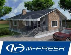 M-fresh Joy-зеркальный (Деревянный каркасный дом, дом до 150 м2). 100-200 кв. м., 1 этаж, 3 комнаты, каркас