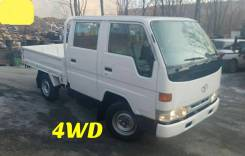 Toyota Dyna. 4WD, двухкабинник+борт, 3 000 куб. см., 1 500 кг.