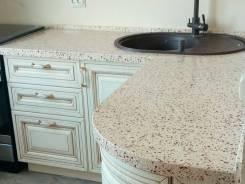 Столешницы кухонные, барные стойки, из искусственного камня, кварц.