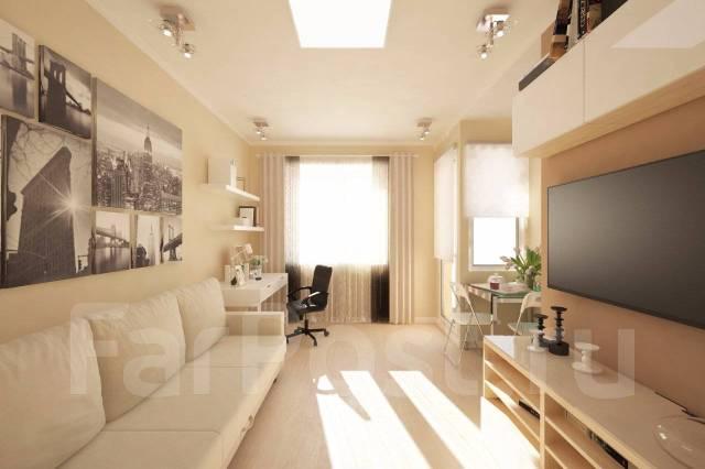 1-комнатная, улица Нейбута 17 кор. 2. 64, 71 микрорайоны, застройщик, 27 кв.м. Дизайн-проект