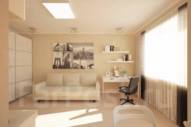 1-комнатная, улица Нейбута 17 кор. 2. 64, 71 микрорайоны, застройщик, 27кв.м. Дизайн-проект