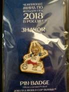 Значок ЧМ2018 в России - Забивака (мяч малый) - Чемпионат близко