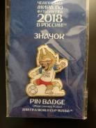 Значок ЧМ2018 в России - Забивака (мяч большой) - Чемпионат близко