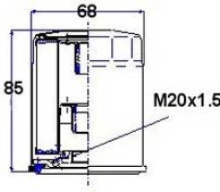 Фильтр масляный. Mazda J100, SD29MF, SD2ATF, SD5ATF, SDEATF, SR2AMF, SR2AVF, SR5AMF, SR5AVF, SREAVF, SRSAVF Ford Telstar, CG2PPF, CG2SPF, CG2SRF, GD8A...