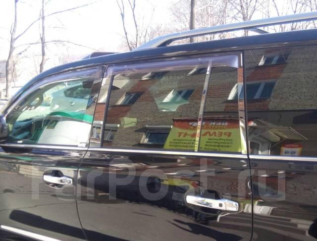 Стальные накладки на стойки дверей (черный хром) на любое авто. Под заказ
