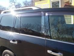 Стальные накладки на стойки дверей (черный хром) на любое авто