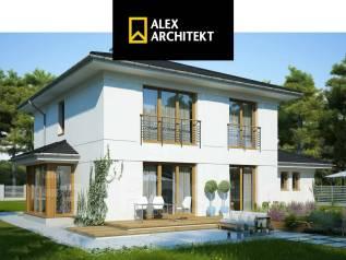 R 118 z Интересный, современный двухэтажный дом с двойным гаражом. 100-200 кв. м., 2 этажа, 4 комнаты, бетон