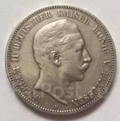 Германия-Пруссия 5 Марок 1907 г. Вильгельм II. Серебро