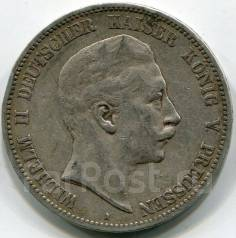 Германия-Пруссия 5 Марок 1903 г. Вильгельм II. Серебро