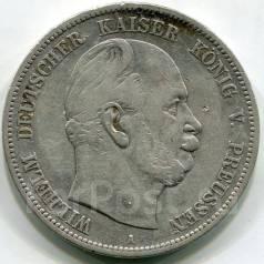 Германия-Пруссия 5 марок 1874 г. А. Вильгельм. Серебро. Редкая