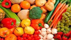 Овощи, зелень.