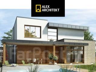 Проект R 122 z Двухэтажный дом, просторный и удобный. 100-200 кв. м., 2 этажа, 5 комнат, бетон