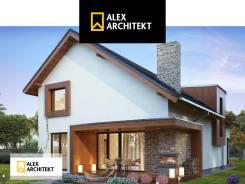 Проект дома R 124 z Просторный, современный дом с мансардой. 100-200 кв. м., 2 этажа, 5 комнат, бетон