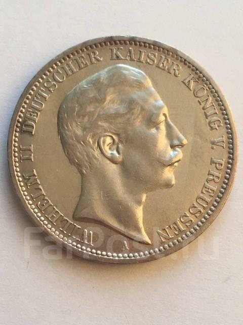 Аукцион Германия империя Вильгельм 2 Пруссия серебро 3 марки 1908 год