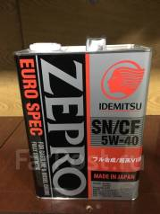 Idemitsu Zepro. Вязкость 5W40, синтетическое