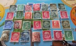 28 почтовых марок военной Германии. 1933-1944 г. Есть нечастые! Лот №