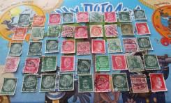 45 почтовых марок военной Германии. 1933-1944 г. Есть нечастые! За 1 р