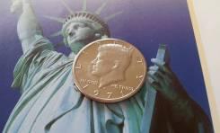 США. 50 центов 1971 года. D. Джон Кеннеди. Большая красивая монета!
