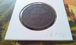 Старый Люксембург. Нечастые 10 сентимов 1870 года в супер сохране! Торг