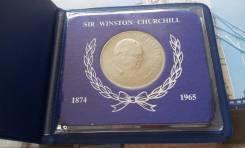 Великобритания! Огромная 1 крона 1965 г. в планшетке! Сэр Уинстон Черч