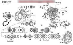 Вариатор. Toyota: Platz, iQ, Avensis, Estima Hybrid, Corolla, Probox, Succeed, Corolla Runx, Premio, Sienta, Mark X, Corolla Axio, Alphard Hybrid, Por...