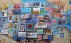 61 почтовая марка Мира. Есть нечастые! За 1 рубль!