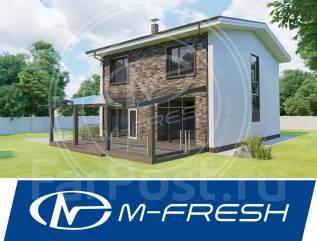 M-fresh Born free Plus! (Проект дома с прозрачным козырьком! ). 200-300 кв. м., 2 этажа, 5 комнат, бетон