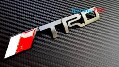 Шильдик TRD металлический на самоклейке - Черный. Toyota: Corona, Lite Ace, Ipsum, MR-S, Tundra, Sprinter, Tarago, Starlet, Porte, Echo, Carina ED, Op...