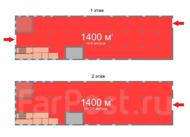 Теплый складской комплекс и земля — 2 Речка — собственность. Улица Чапаева 2д, р-н Вторая речка, 3 880 кв.м. План помещения